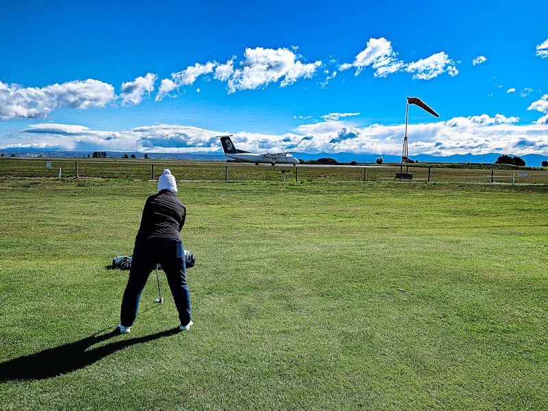 Runway fairway at Nelson Golf Club