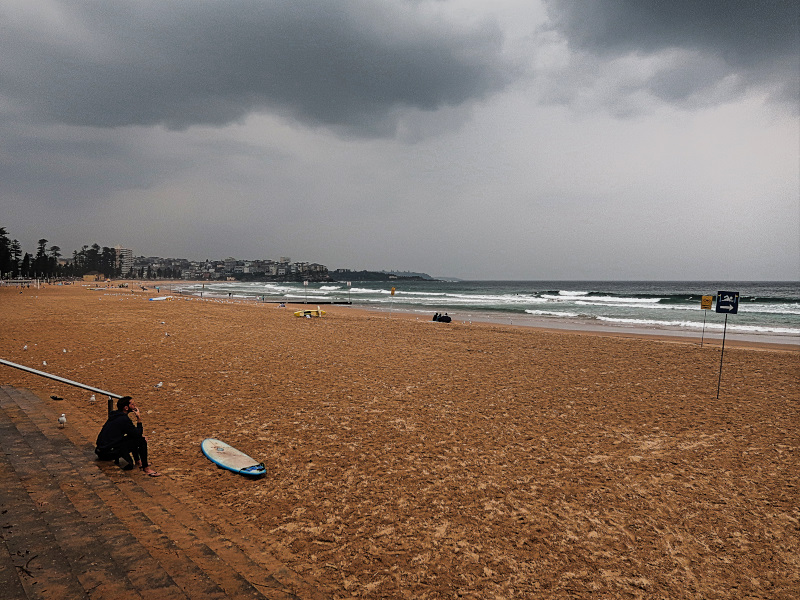 Surfer at Manly Beach