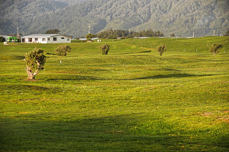 Undulating fairways at Karamea Golf Club