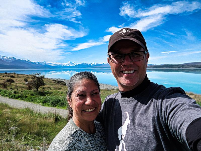 Happy at Lake Pukaki