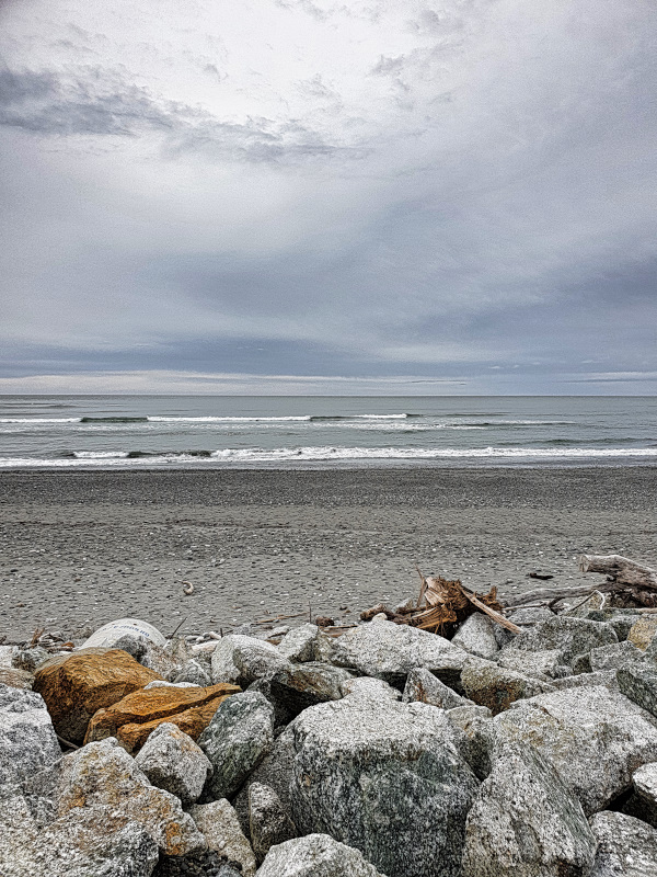 The view from our Camper in Greymouth