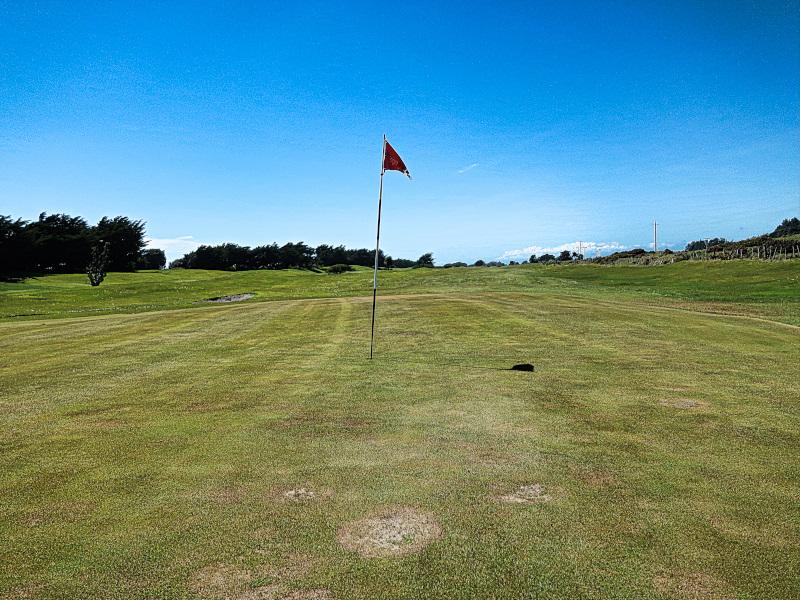 Cranston green at Hokitika Golf Club