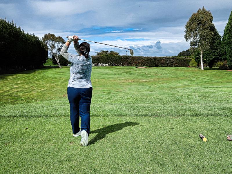 Schoolhouse tee shot at Invercargill Golf Club