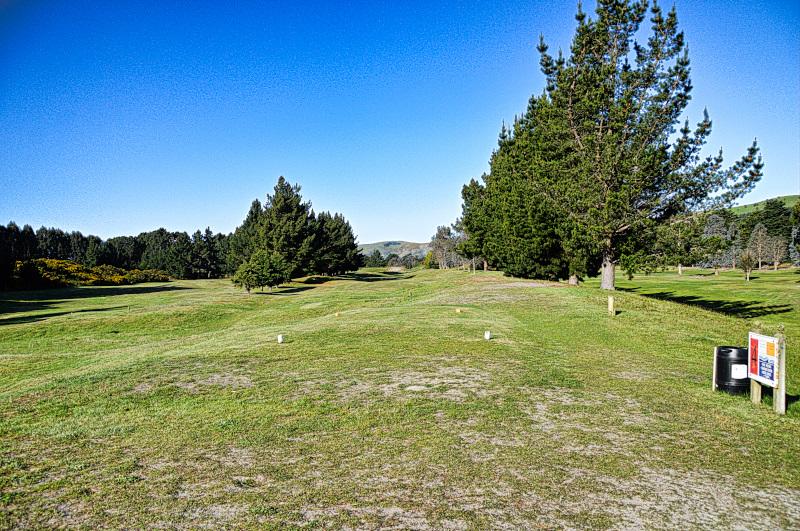 Fieldwicks tee box at Otakou Golf Club