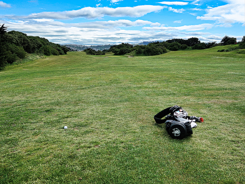 Finding the fairway on Downill at Chisholm Links Golf Club