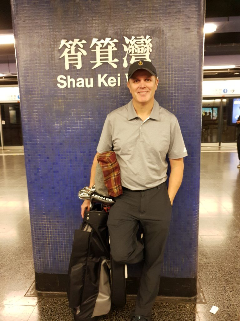At the Shau Kei Wan station