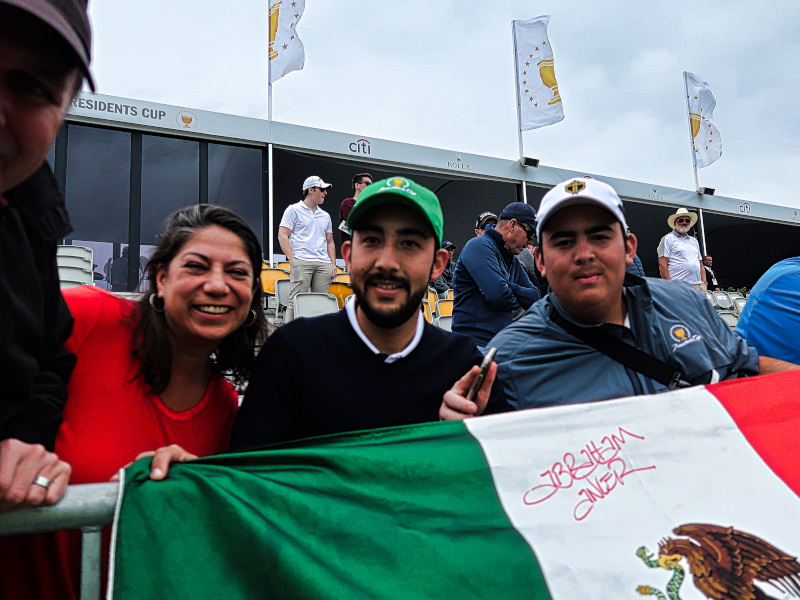 Abraham Ancer fans at the Presidents Cup
