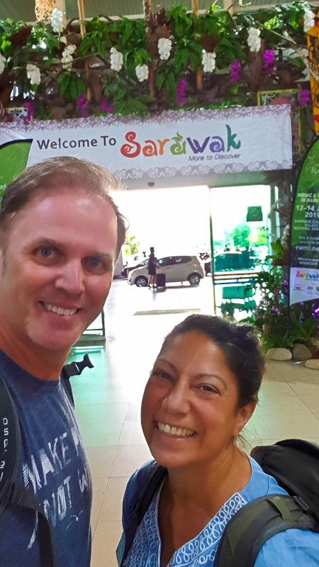 Arrival in Kuching