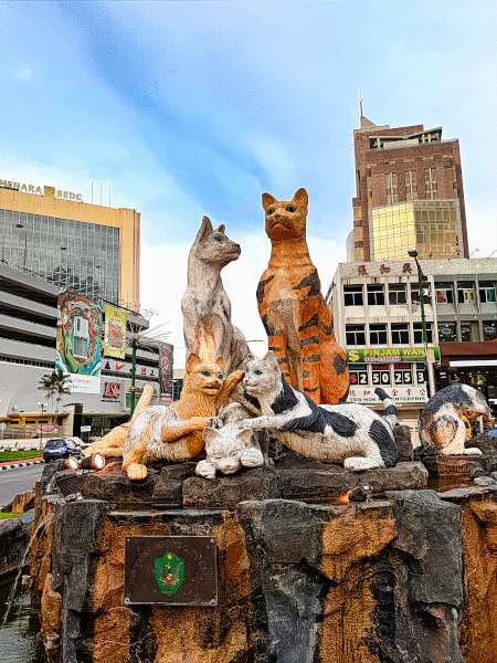 Cat Statues in Kuching