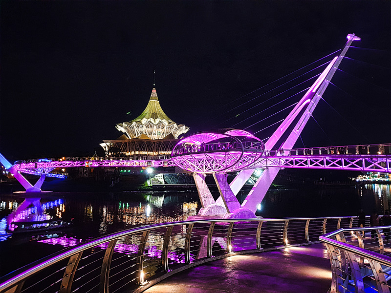 Darul Hana Bridge at Night