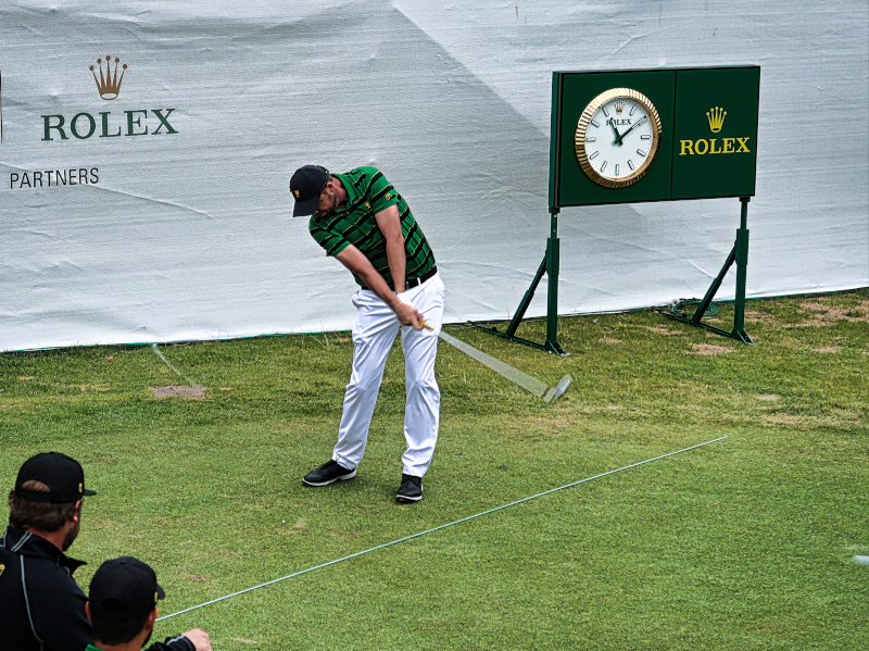 Local favourite Marc Leishman at the Presidents Cup