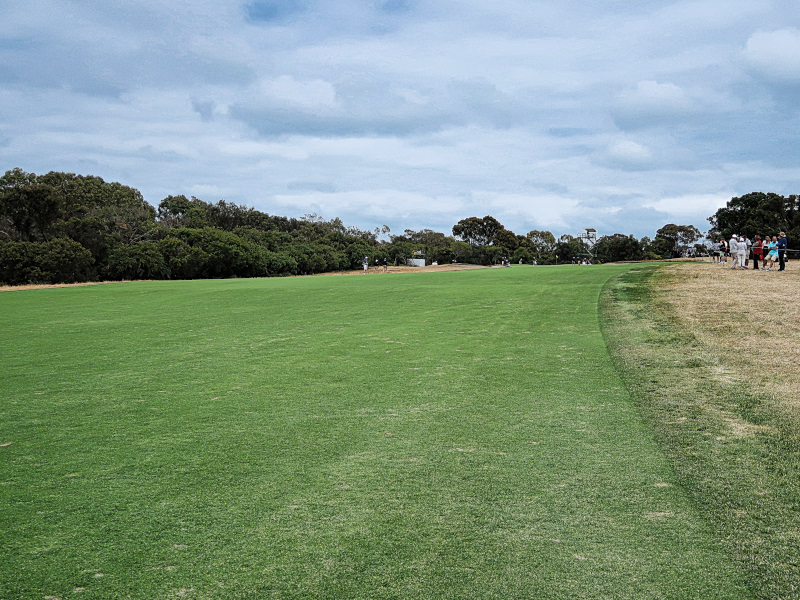The 7th fairway at the Presidents Cup