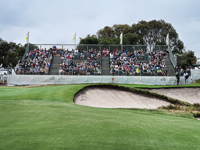The 9th green at the Presidents Cup