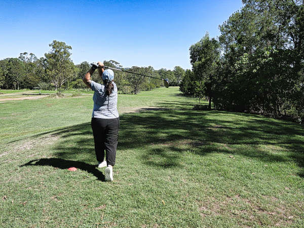 Another solid tee shot at Gympie Golf Course