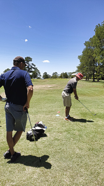 Solid ball stricker on the ninth at Gympie Golf Course