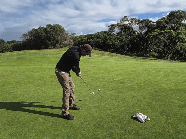 Birdie putt on three at The New South Wales Golf Club