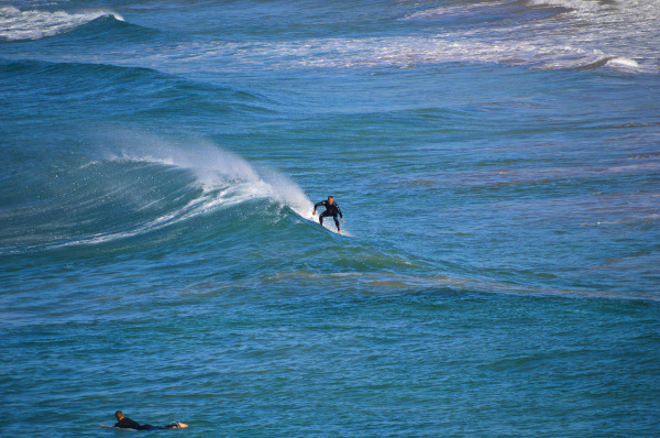 Surfer at Bombo Beach