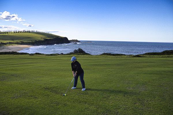 Fairway shot on four at Gerringong Golf Club
