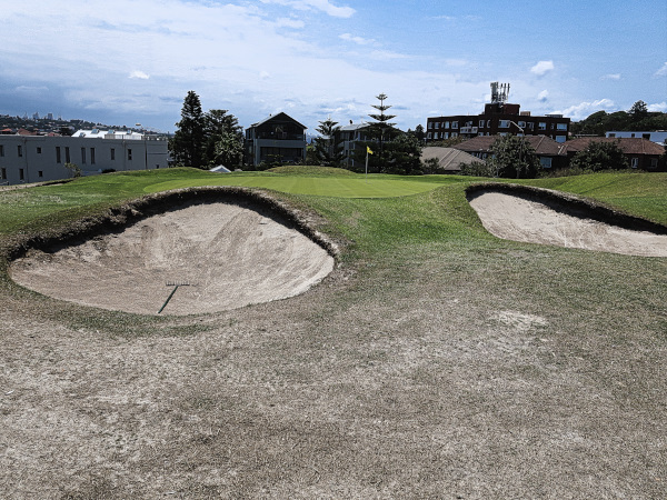 Impressive bunkers on the ninth at Bondi Golf and Diggers Club