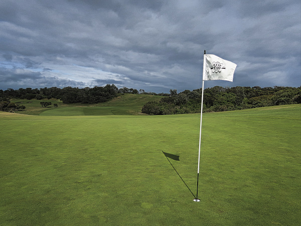 Looking back at the third fairway at The New South Wales Golf Club