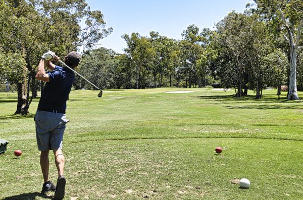 Missing my target on Twelve at Virginia Golf Club
