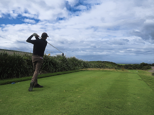 Teeing off on five at The New South Wales Golf Club