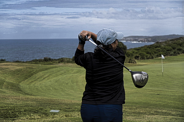Teeing off on sixteen at The New South Wales Golf Club