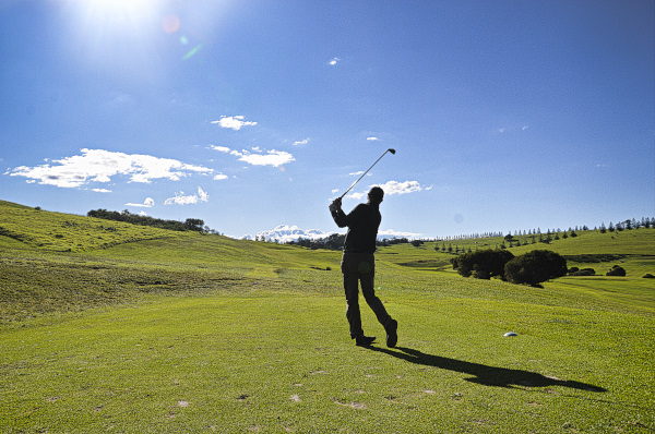 Teeing off on the second at Gerringong Golf Club