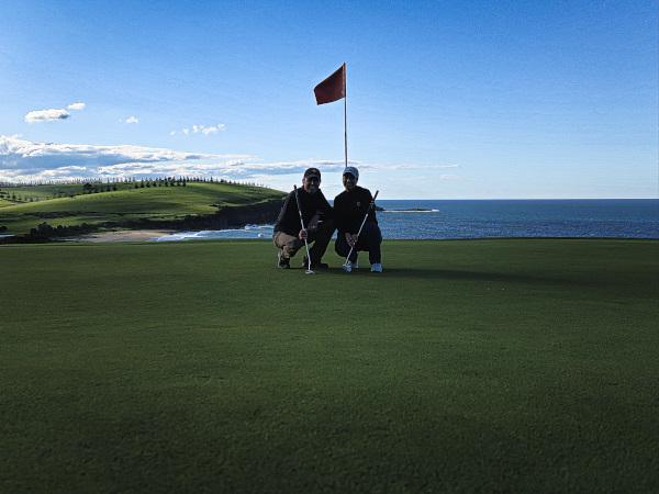 We loved the fifth hole at Gerringong Golf Club