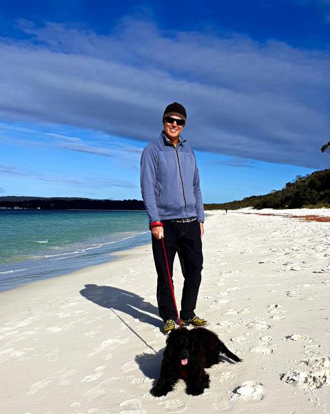 Ella and James at Hyams Beach