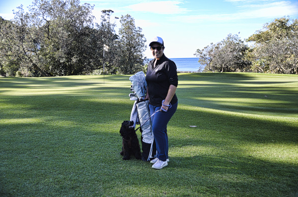 Happy on seven at Mollymook Golf Club