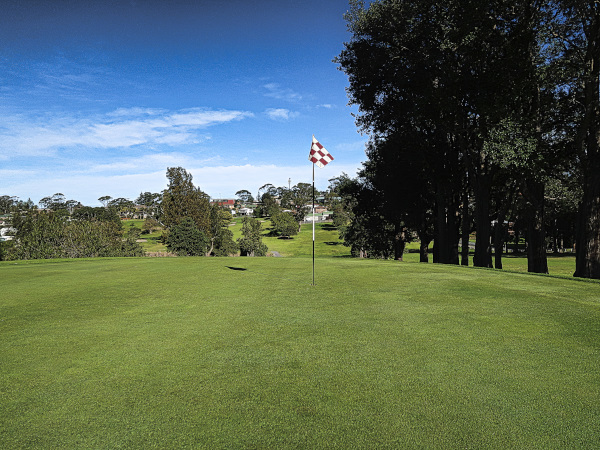 Looking back on the fourth at Mollymook Golf Club