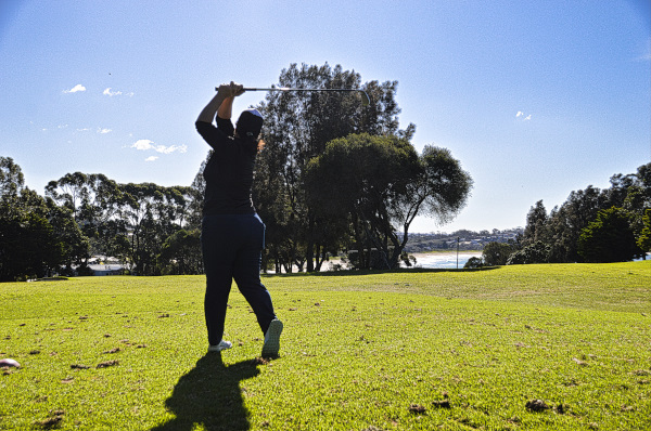 Pulling it on two at Mollymook Golf Club