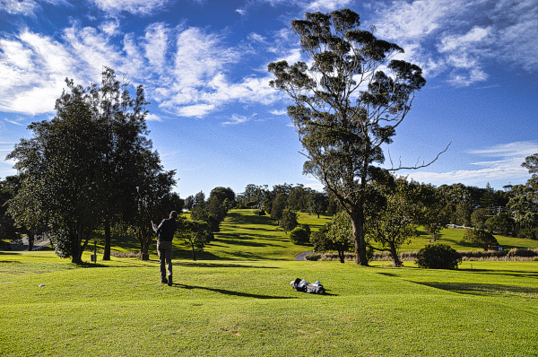 Teeing off on four at Mollymook Golf Club