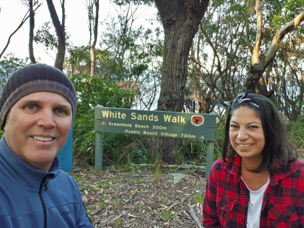 Us at the White Sands Walk