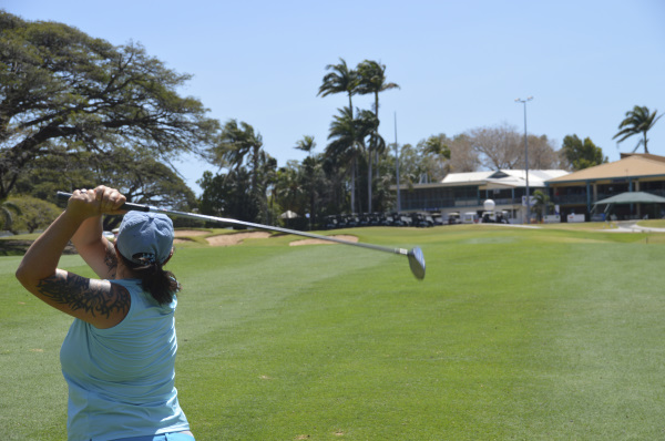 Fairway finder on 9 at Townsville Golf Club
