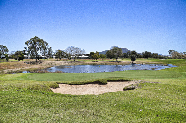 Looking back on 5 at Townsville Golf Club