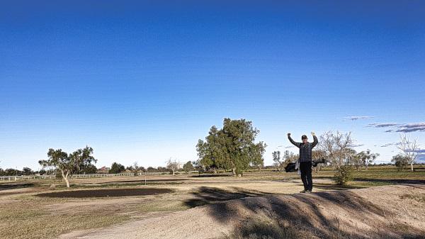 Making birdie on four at Coonamble Golf Club