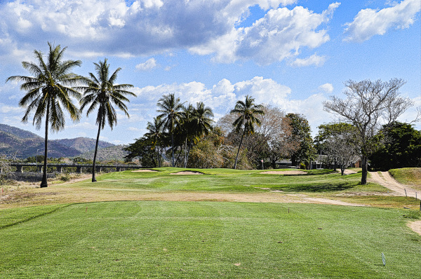 Tee box views of 16 at Townsville Golf Club