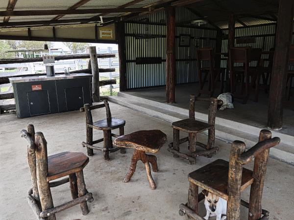 Big and cozy camp kitchen at Alkoomi Adventure Farm