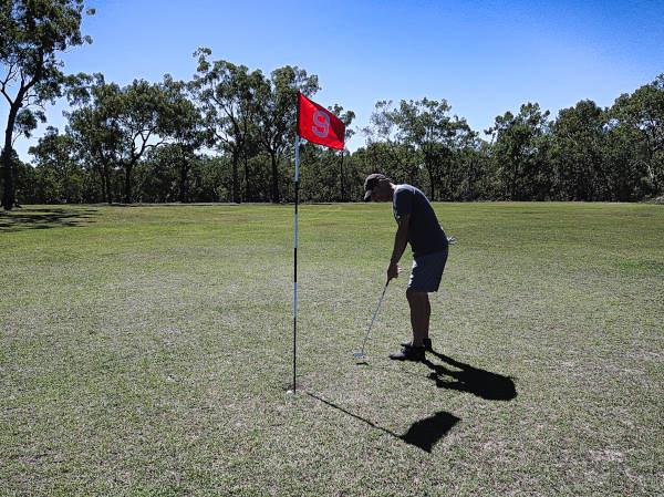 Making birdie on nine at Brandybottle Golf Club