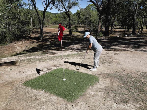 World's smallest green at Brandybottle Golf Club