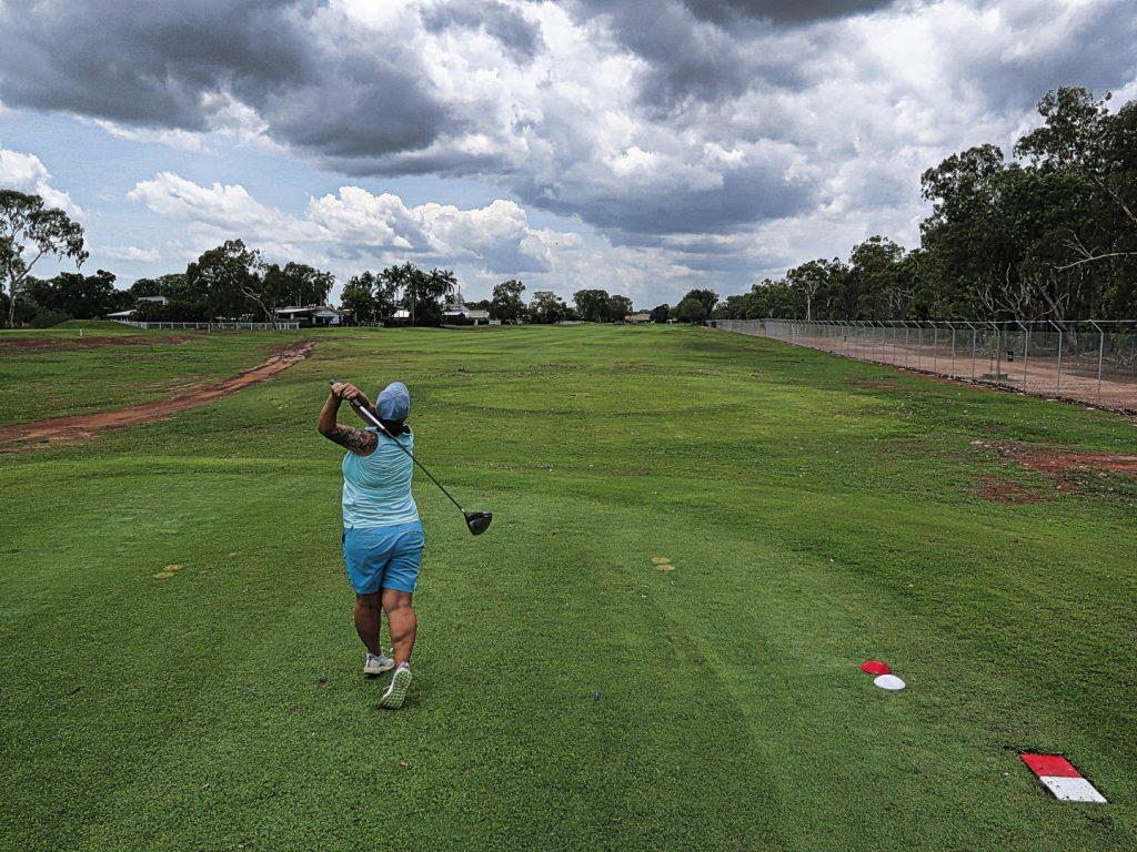 Fourteenth tee at Darwin Golf Club