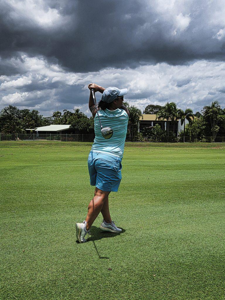 Seventeenth fairway at Darwin Golf Club