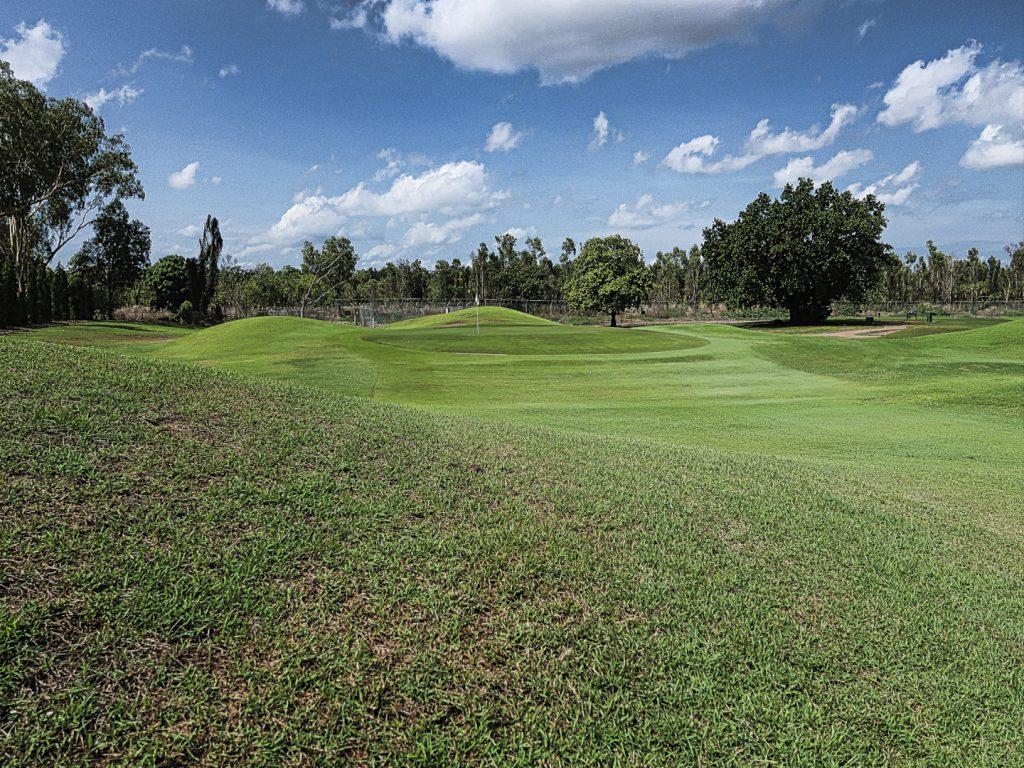 The sixth green at Darwin Golf Club