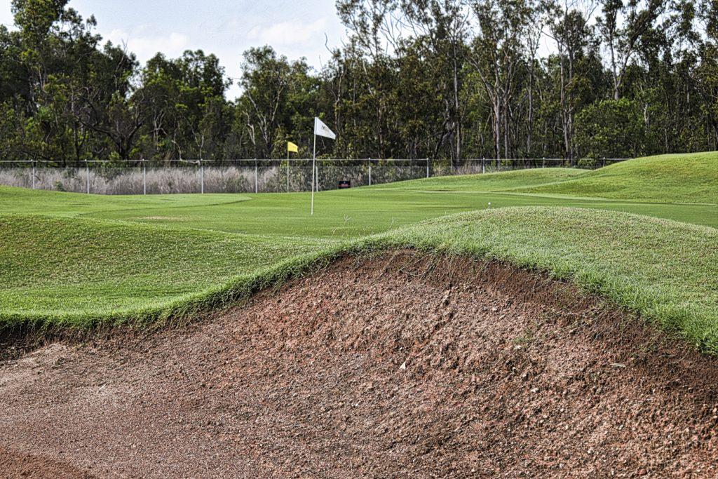 The third green at Darwin Golf Club