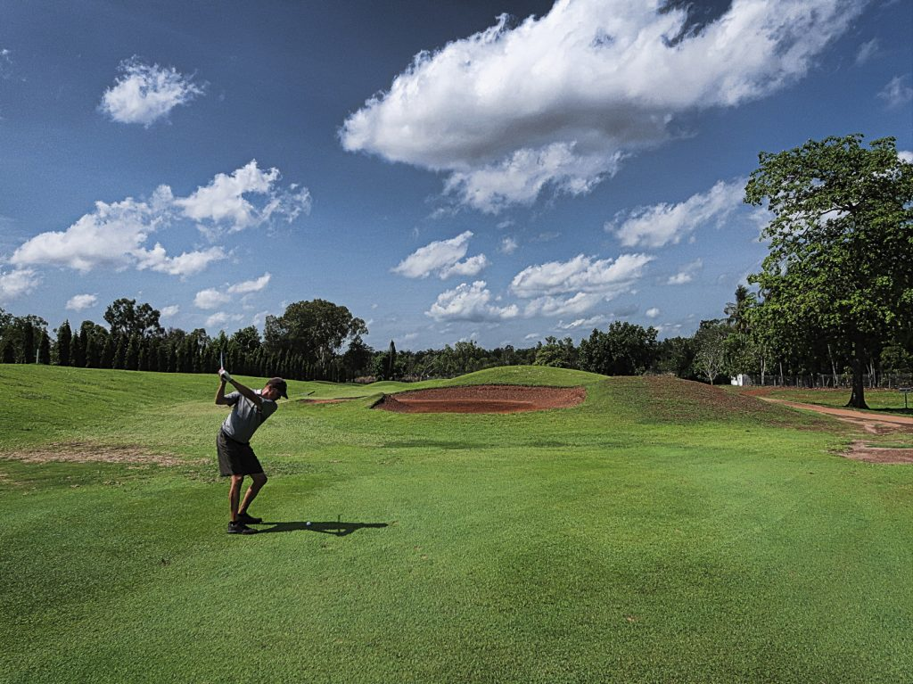 Wedge in on six at Darwin Golf Club