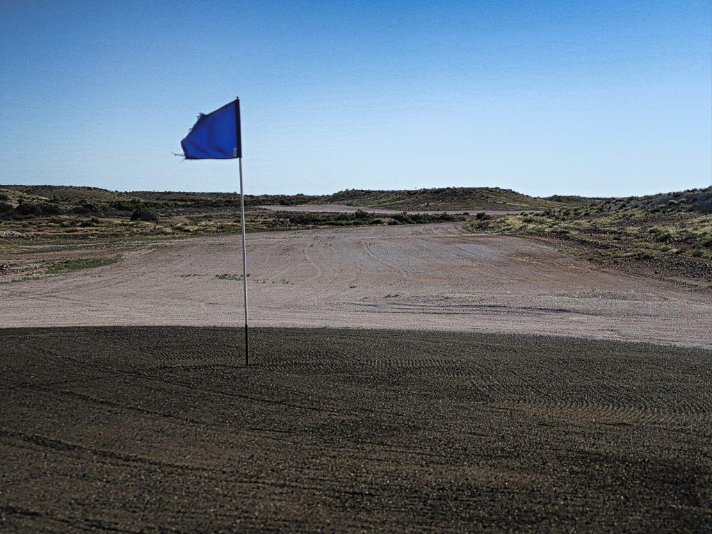 Eighteenth at Coober Pedy Opal Fields Golf Club