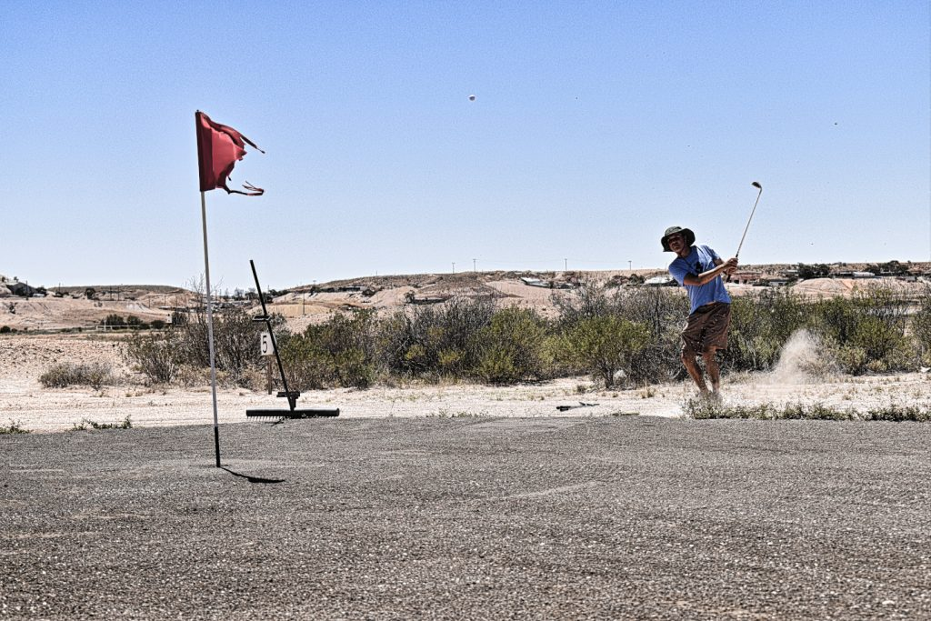 Getting up and down at Coober Pedy Opal Fields Golf Club