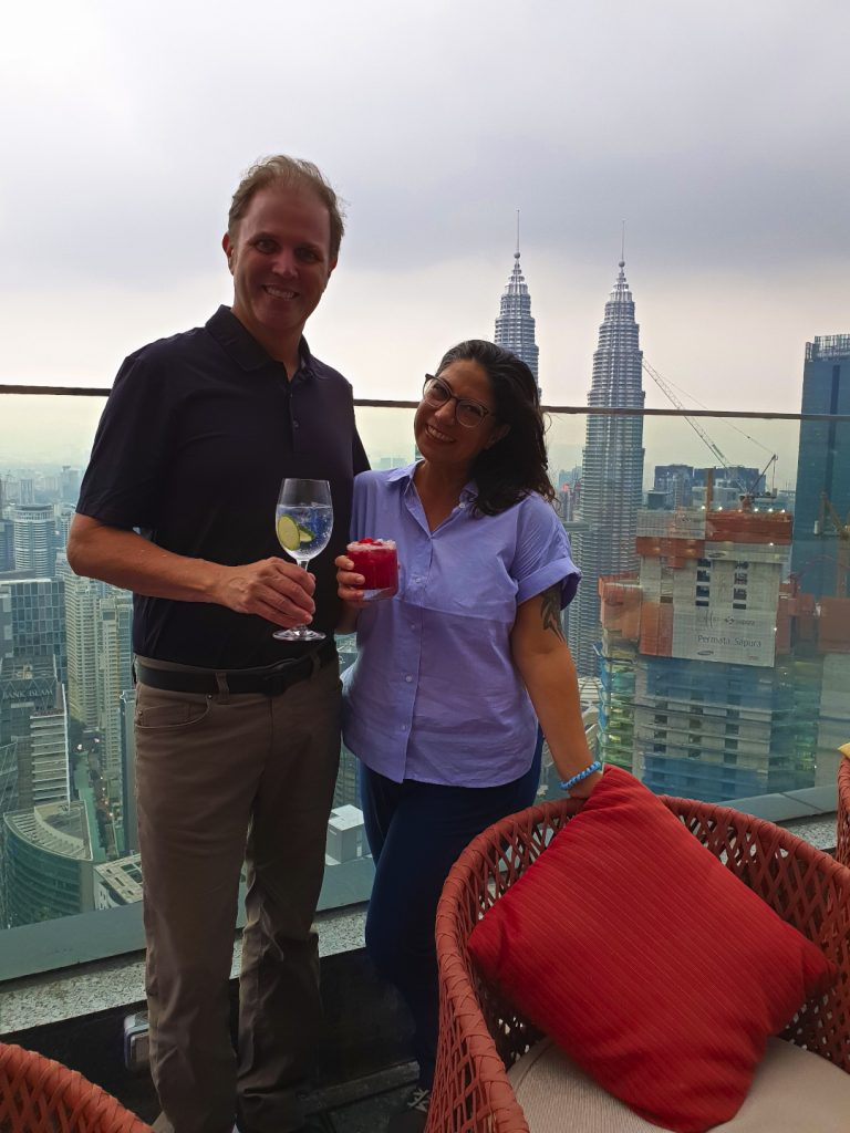 Cocktails at the Rooftop bar Vertigo at the Banyan Tree Kuala Lumpur